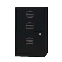 Bisley A4 Home Filer 3 Drawer Lockable Black BY60318