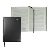 Collins Classic 2018 Compact Day/Page Appointment Diary Black 1250V