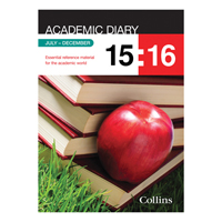 Collins Academic Diary A5 2017-18 18 Month Week to View Black 35M