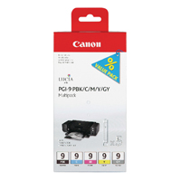 Canon PGI-9 Matte Black /Photo Cyan/Photo Magenta/Red/Green Inkjet Cartridges (Pack of 5) 1033B013