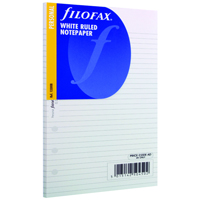 Filofax Personal Ruled White Paper 133008 (Pack of 30)