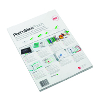 GBC Peel and Stick A3 Laminating Pouch Self Adhesive Gloss 125 Micron Clear (Pack of 100) 3747236