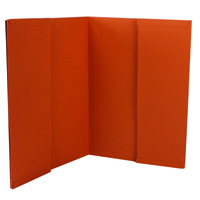 Guildhall Orange Double Pocket Legal Wallet Foolscap (Pack of 25) 214-ORG