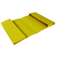 Guildhall Yellow Double Pocket Legal Wallet Foolscap (Pack of 25) 214-YLW
