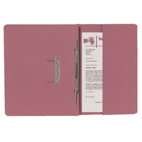 Guildhall Pink Foolscap Right Hand Pocket Spiral File Pack of 25 211/9064Z