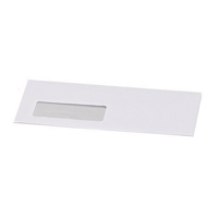 Postmaster Envelope 114x235mm Window 90gsm Gummed White (Pack of 500) B29153