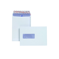 Plus Fabric C5 Window Envelopes 110gsm Peel and Seal White (Pack of 500) E24970