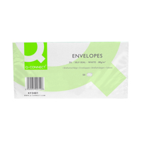 Q-Connect DL Envelopes 80gsm Self Seal White (Pack of 1000) KF02712