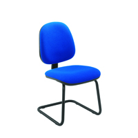 Jemini Medium Back Visitor Blue Chair KF02734
