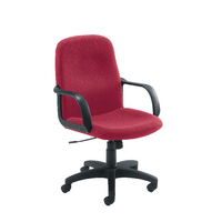 Jemini Manager Star Leg Chair Claret KF03430