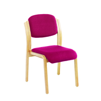 Jemini Wood Frame Side Chair No Arms Claret KF03513