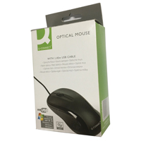 Q-Connect Black Scroll Wheel Mouse KF04368
