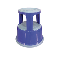 Q-Connect Metal Step Stool Blue KF04847