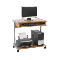 Jemini Intro Beech 800mm Mobile Computer Workstation KF14111