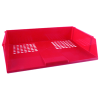 Q-Connect Red Wide Entry Letter Tray KF21691