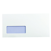 Q-Connect DL Window Envelopes 100gsm Self Seal Recycled White (Pack of 500) KF3505