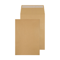 Q-Connect Gusset Envelope 324x229x25mm Peel and Seal 120gsm Manilla (Pack of 100) KF3527