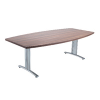 Arista Conference Table 2200x1100mm Boat Walnut KF73540