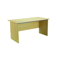 Jemini Intro Ferrera Oak Panel End Desk 1500mm KF73663