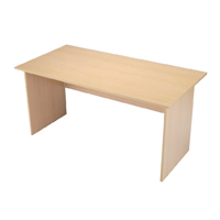 Jemini Intro 1200mm Panel End Desk Warm Maple KF73973