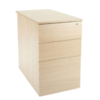 Jemini Intro D800mm Warm Maple Desk High Pedestal KF74109