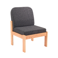 Arista Reception Seat Beech Veneer Frame Charcoal KF74201