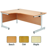 Jemini Beech 1200mm Left Hand Radial Cantilever Desk KF838039