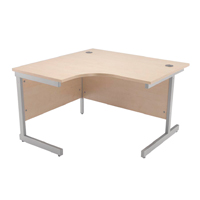 Jemini Maple 1200mm Left Hand Radial Cantilever Desk KF838041