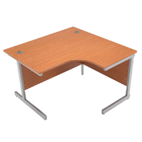 Jemini Oak 1200mm Right Hand Radial Cantilever Desk KF838043