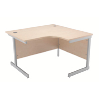 Jemini Maple 1200mm Right Hand Radial Cantilever Desk KF838044
