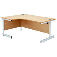 Jemini Beech 1600mm Left Hand Radial Cantilever Desk KF838045