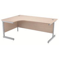 Jemini Maple 1600mm Left Hand Radial Cantilever Desk KF838047