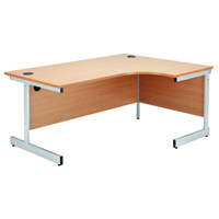 Jemini Beech 1600mm Right Hand Radial Cantilever Desk KF838048