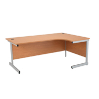 Jemini Oak 1600mm Right Hand Radial Cantilever Desk KF838049