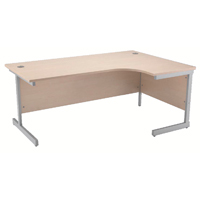 Jemini Maple 1600mm Right Hand Radial Cantilever Desk KF838050