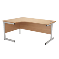 Jemini Beech 1800mm Left Hand Radial Cantilever Desk KF838051