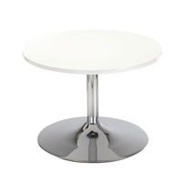 Arista Low Bistro Table With Trumpet Base White KF838812