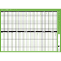Q-Connect Staff Planner Mounted 855x610mm 2018 KFSPM18
