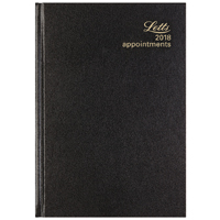 Letts 12X Appointment Black A5 Day/Page 2018 18-T12XBK