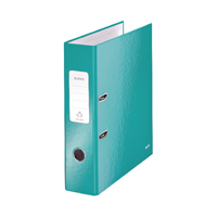 Leitz 180 Wow 80mm Ice Blue A4 Lever Arch File (Pack of 10) 10050051