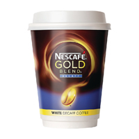 Nescafe & Go White Decaffeinated Gold Blend (Pack of 8) 12033784