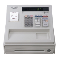 Sharp XE-A137 Cash Register Black XEA137WH