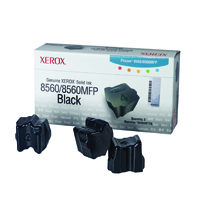 Xerox Phaser 8560 Black Solid Ink Sticks (Pack of 3) 108R00726