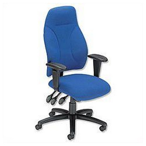 Influx Posture High Back Asynchronous Armchair Seat Blue