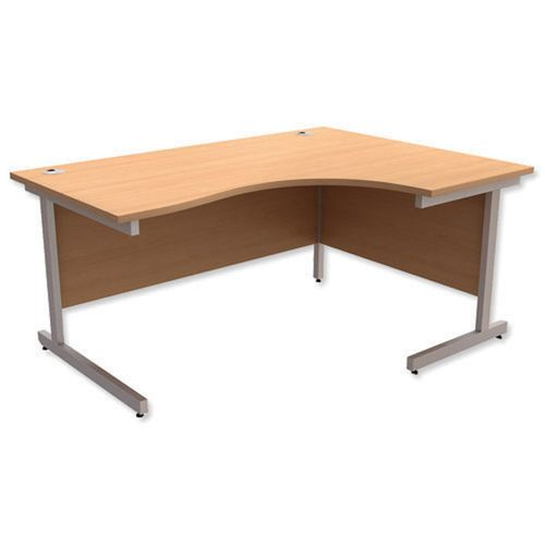 Initiative Silver Legs 1600 Right Hand Radial Desk Beech