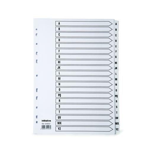 Initiative Index A4 A-Z White Mylar Tab