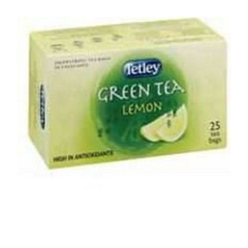 Tetley Green Lemon 25 Drawstring Envelope Tea Bags     1296B