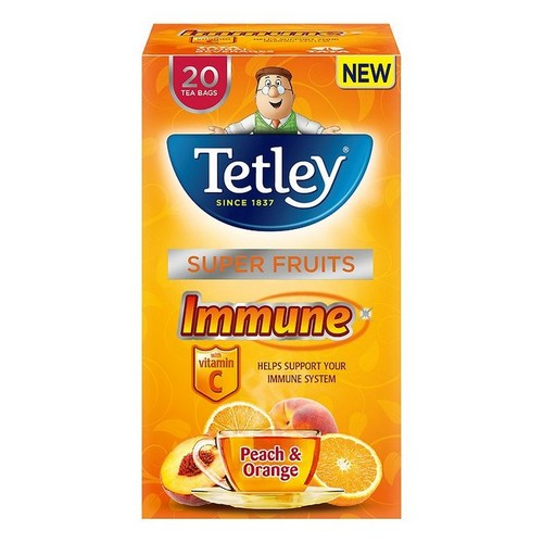 Tetley Immune Peach & Orange Pack 20