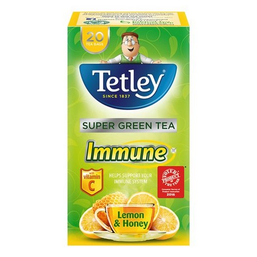 Tetley Immune Lemon & Honey Pack 20