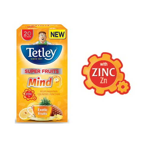 Tetley Mind Exotic Fruits Pack 20
